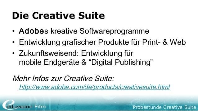 Creative Suite Probestunde Slide 2