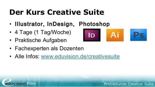 Creative Suite Probestunde Slide 3