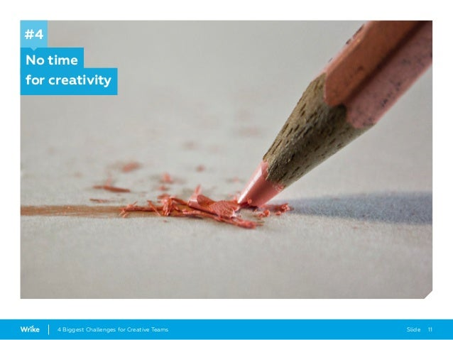 Slide 114 Biggest Challenges for Creative Teams No time for creativity #4