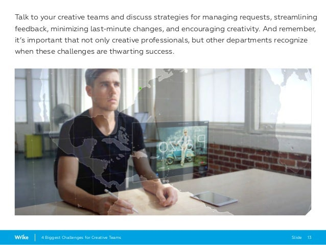Slide 134 Biggest Challenges for Creative Teams Talk to your creative teams and discuss strategies for managing requests, ...