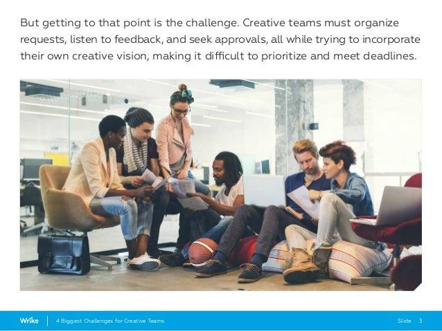 4 Biggest Challenges for Creative Teams Slide 3