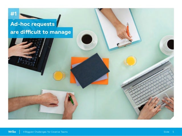 Slide 54 Biggest Challenges for Creative Teams Ad-hoc requests are difficult to manage #1