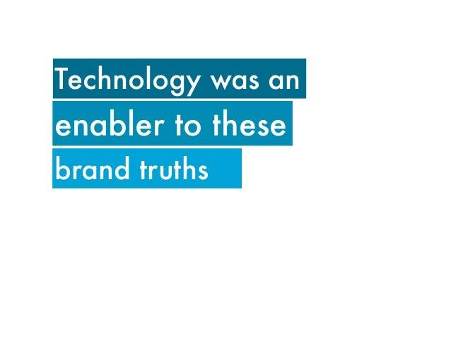 Not technology fortechnology's sake