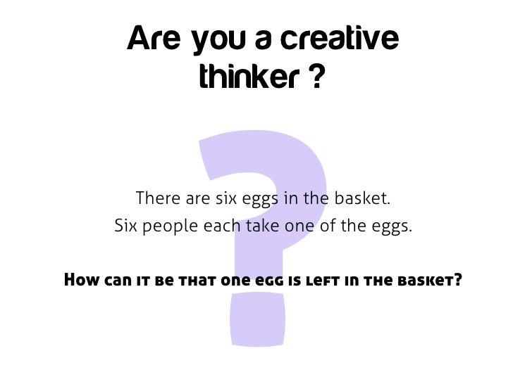 creative thinker presentation Why be creative and how to be creative  creative thinking 380,201 views  share like  creative thinking presentation colingodefroy.