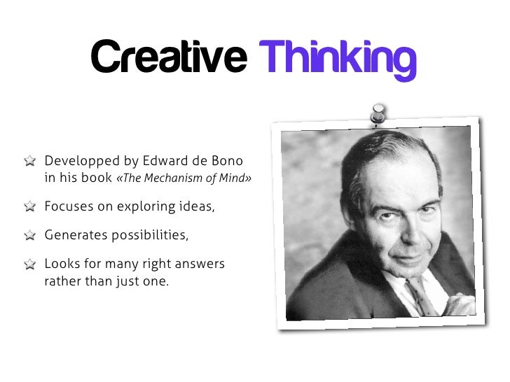 creative thinker presentation As a creative thinker, you are in your classroom to maximize attention during your presentation to develop your creative thinking skills.