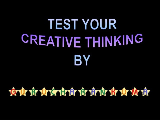 CREATIVITY The quality or ability to create or invent something; originality.  process of developing new, uncommon, or u...