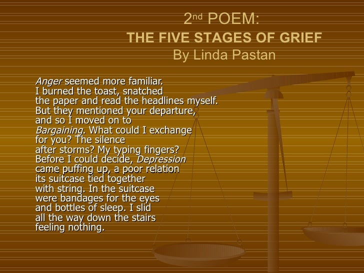 anger by linda pastan essay example Linda pastan's to a daughter leaving home and margaret atwood's death of a young son by drowning both apply imagery and symbolism to exemplify the difficulties of.