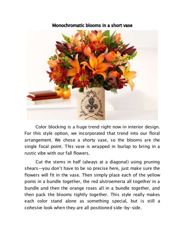 Creative Ways To Arrange Your Flower Vase