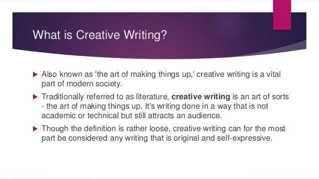 An Introduction to Creative Writing