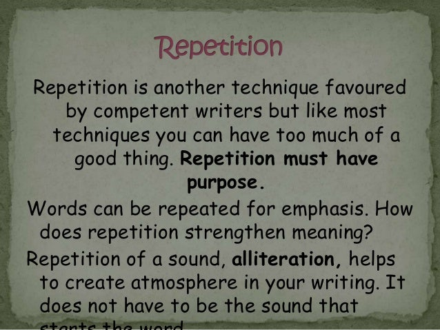 Image result for writer's repetition