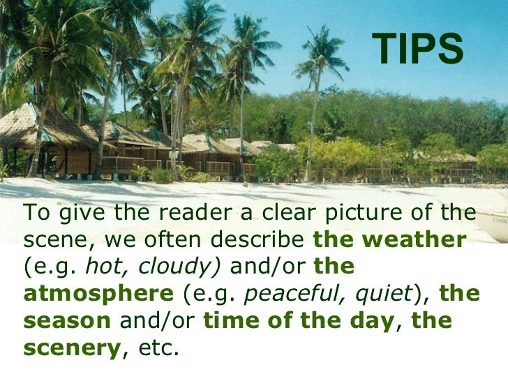 Describing weather effectively in descriptive and creative writing