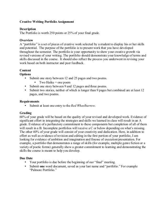 Writing portfolio assignment