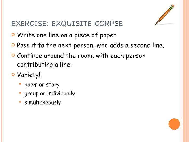 exquisite corpse writing activity for preschool