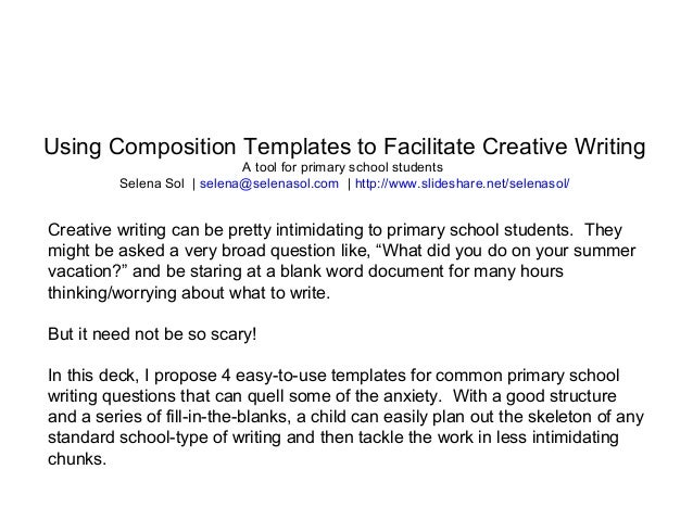 creative writing templates