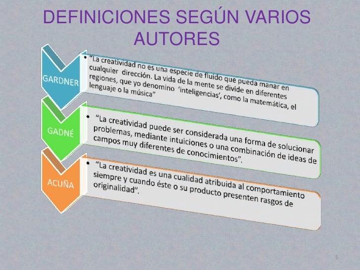 DEFINICIONES SEGÚN VARIOS         AUTORES                            5