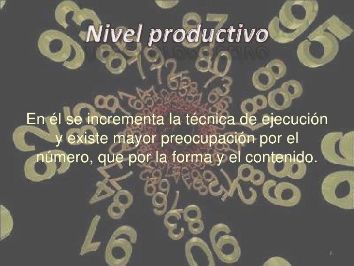 En él se incrementa la técnica de ejecución    y existe mayor preocupación por el número, que por la forma y el contenido....