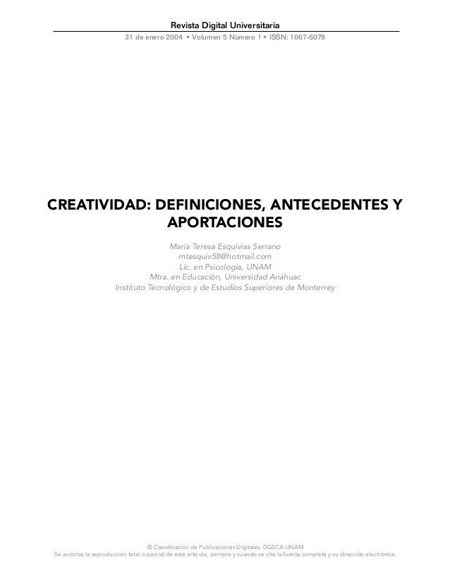 © Coordinación de Publicaciones Digitales. DGSCA-UNAM Se autoriza la reproducción total o parcial de este artículo, siempr...