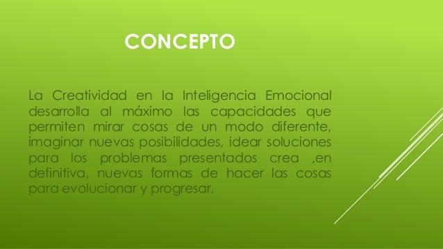 Creatividad en la inteligencia emocional Slide 3
