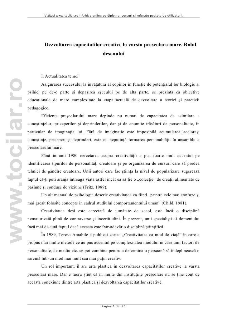 Vizitati www.tocilar.ro ! Arhiva online cu diplome, cursuri si referate postate de utilizatori.         Dezvoltarea capaci...