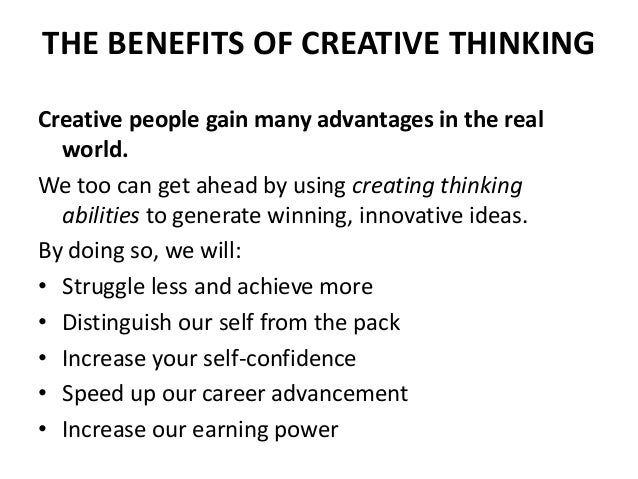 benefits of creativity for students