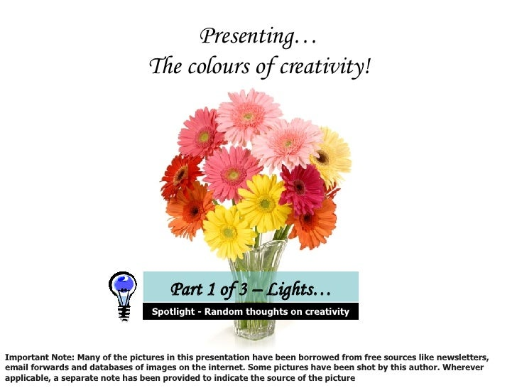 Creativity - A Perspective Slide 3