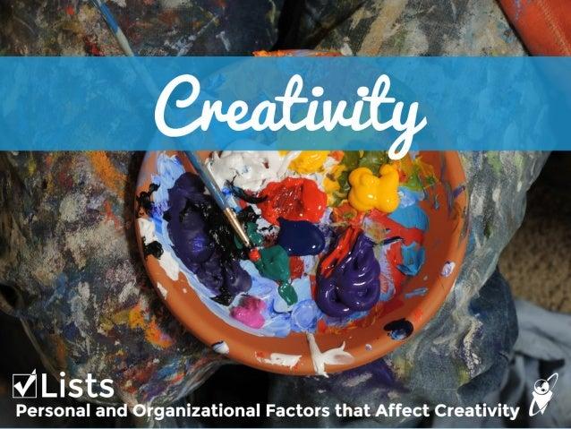 Creativity Checklists!