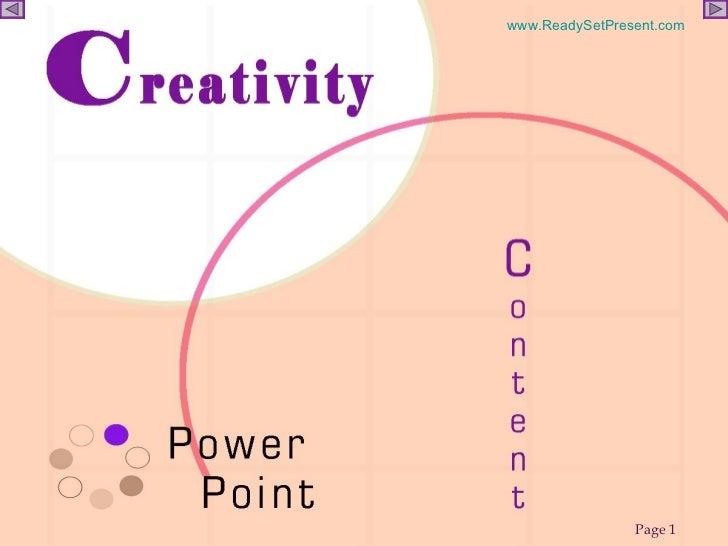 CREATIVITY POWERPOINT Slide 1