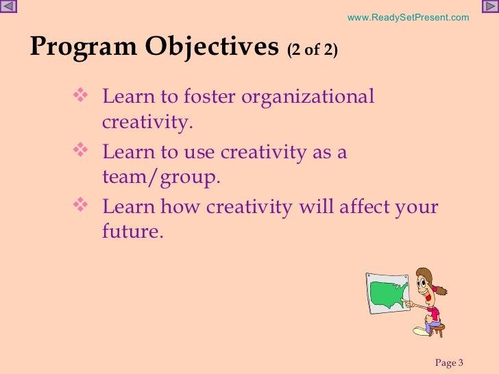 CREATIVITY POWERPOINT Slide 3