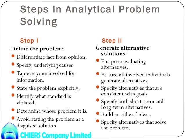 analytical problem solving definition