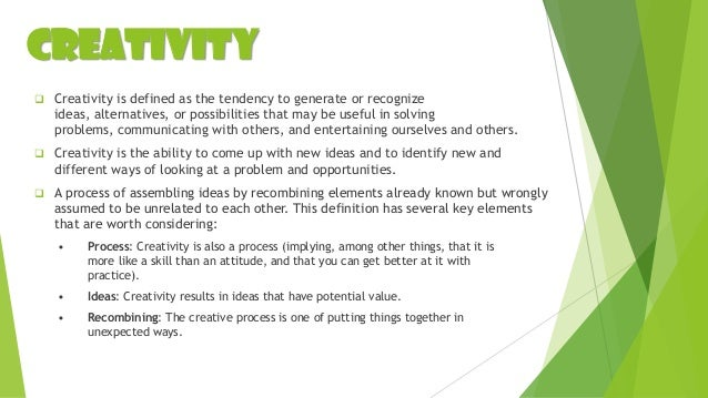 Key Concepts of Creativity and Innovation Worksheet