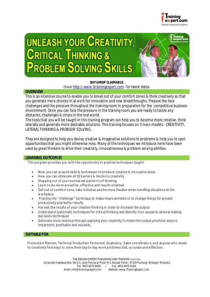 Critical Thinking CTE Professional Development Session Session              Bellwork     Eventbrite