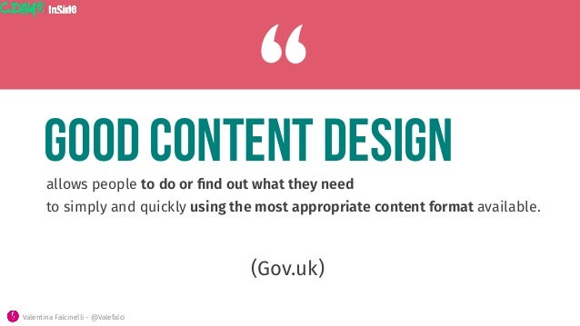 allows people to do or find out what they need  to simply and quickly using the most appropriate content format available. ...