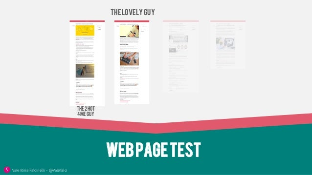 Webpagetest ThelovelYguy The2hot 4meguy Valentina Falcinelli - @Valefalci