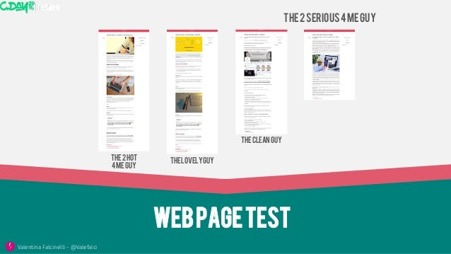 Webpagetest The2hot 4meguy Thelovelyguy The2serious4meguy Thecleanguy Valentina Falcinelli - @Valefalci