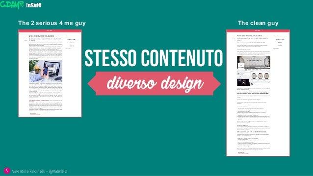 STESSO CONTENuto diverso design The clean guyThe 2 serious 4 me guy Valentina Falcinelli - @Valefalci