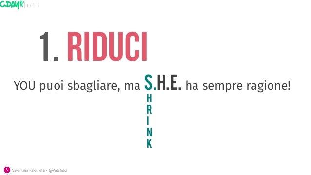 1. rIducI h r i n k Valentina Falcinelli - @Valefalci  YOU puoi sbagliare, ma S.H.E. ha sempre ragione!