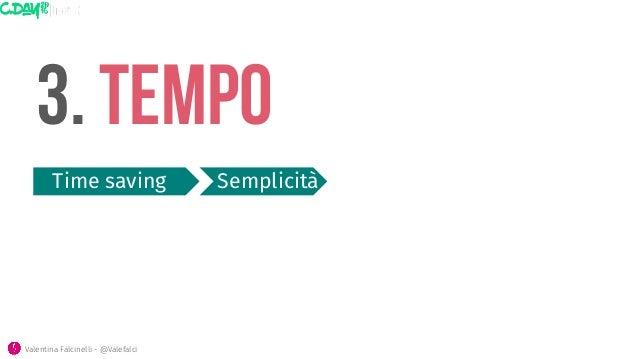3. Tempo Time saving  Semplicità Valentina Falcinelli - @Valefalci