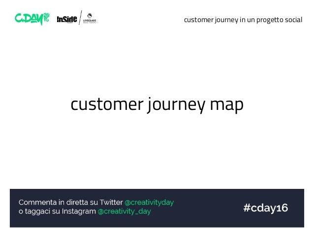 customer journey in un progetto social customer journey map