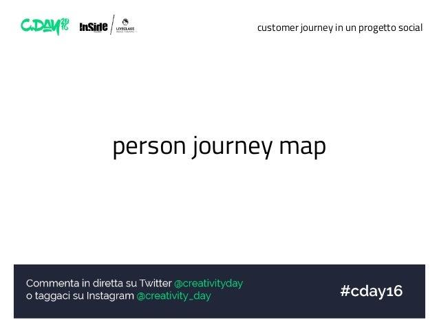 customer journey in un progetto social person journey map