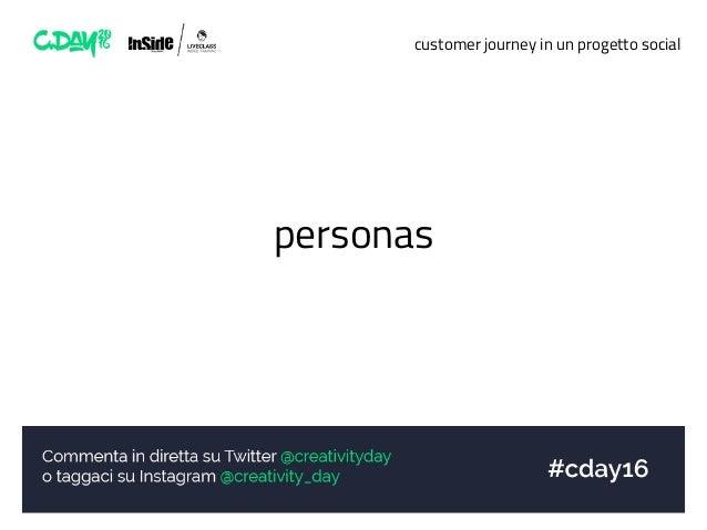 customer journey in un progetto social personas