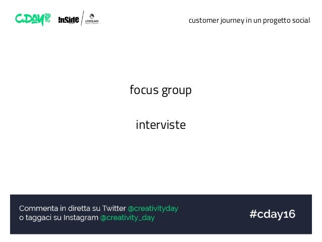 customer journey in un progetto social focus group interviste