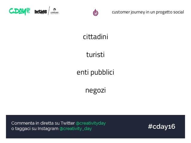 customer journey in un progetto social cittadini turisti enti pubblici negozi