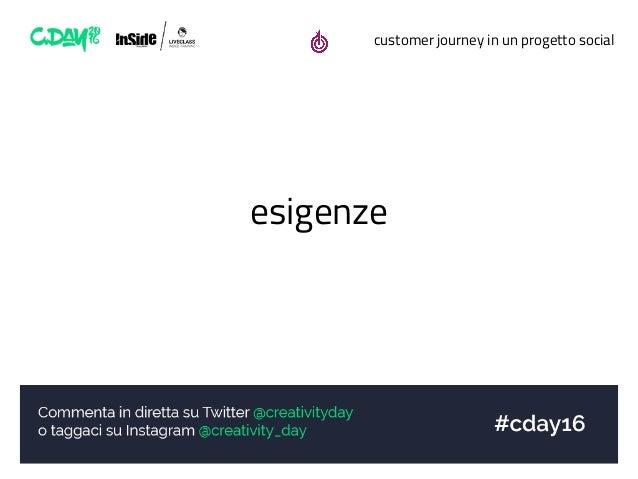 customer journey in un progetto social esigenze