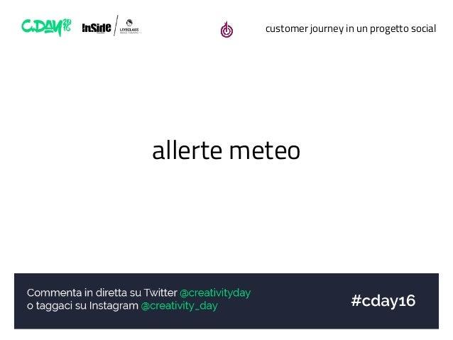 customer journey in un progetto social allerte meteo