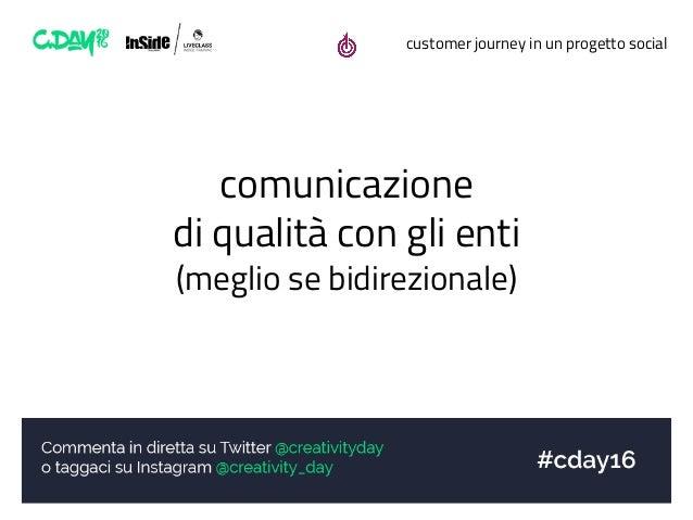 customer journey in un progetto social comunicazione di qualità con gli enti (meglio se bidirezionale)