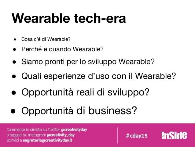Wearable technologies, why not?   Creativity Day 2015 Slide 3