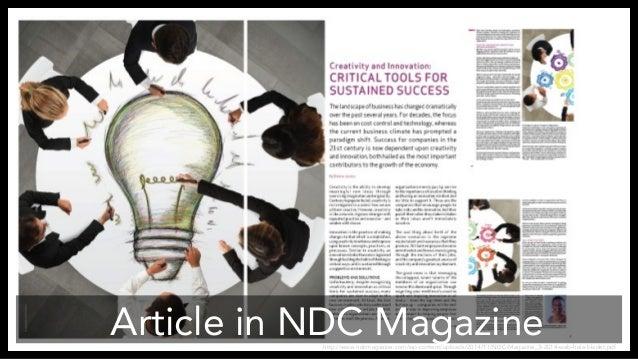 Article in NDC Magazine  http://www.ndcmagazine.com/wp-content/uploads/2014/11/NDC-Magazine_3-2014-web-hele-bladet.pdf