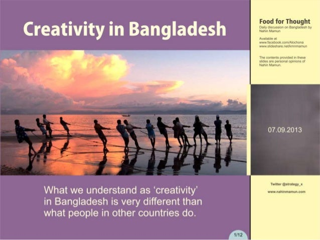 Creativity in Bangladesh