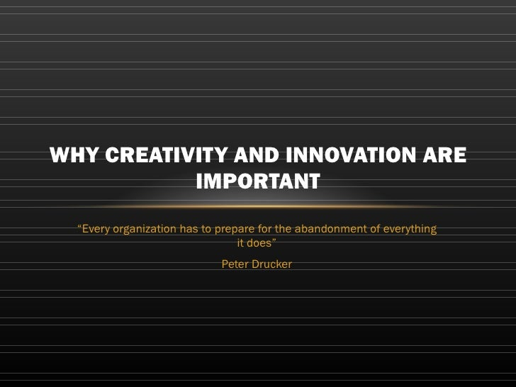 Creativity, innovation and culture Slide 2
