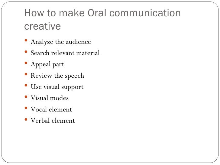 creativity in oral communication 5 how to make oral communication